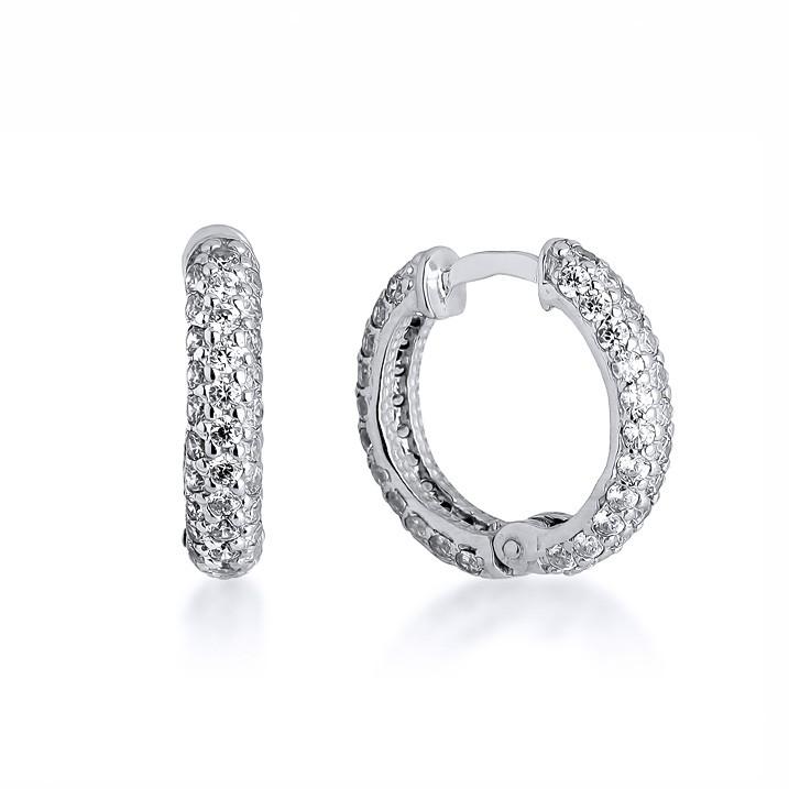 серьги кольца маленькие